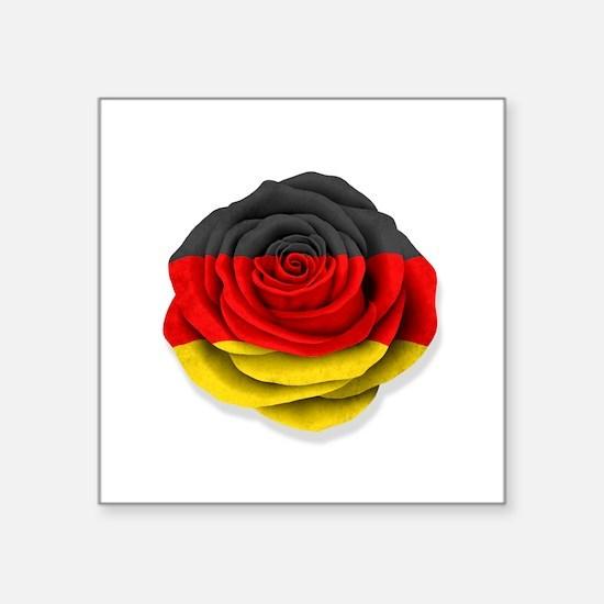 German Rose Flag on White Sticker