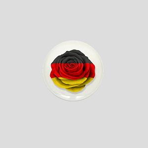 German Rose Flag on White Mini Button