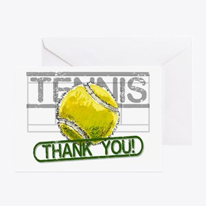 Tennis Thank You Greeting Cards