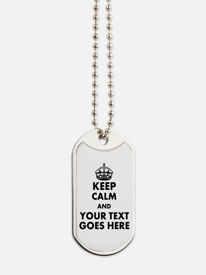 keep calm gifts Dog Tags