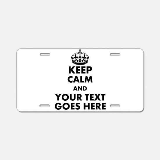 keep calm gifts Aluminum License Plate