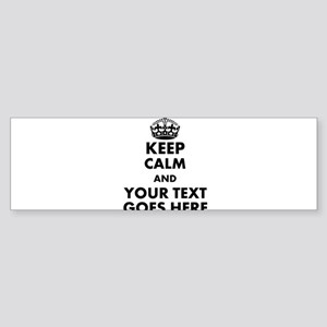 keep calm gifts Bumper Sticker