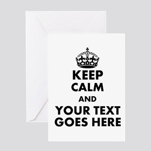keep calm gifts Greeting Cards