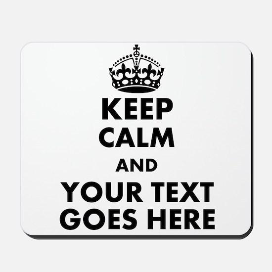 keep calm gifts Mousepad