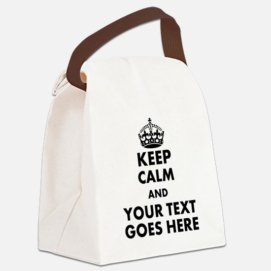 keep calm gifts Canvas Lunch Bag