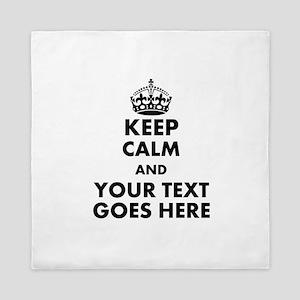 keep calm gifts Queen Duvet