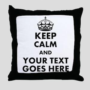 keep calm gifts Throw Pillow