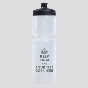 keep calm gifts Sports Bottle