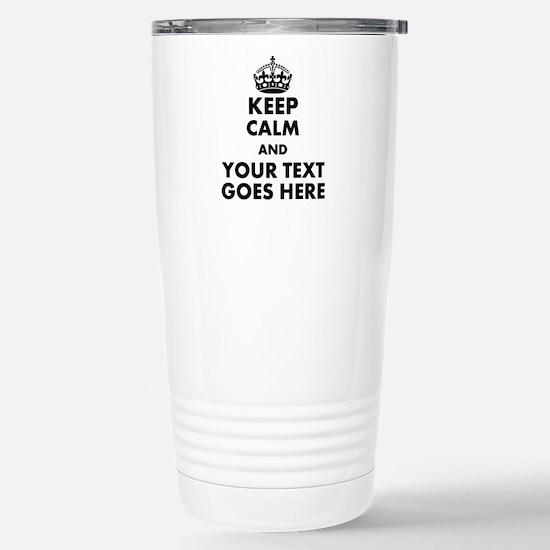 keep calm gifts Travel Mug
