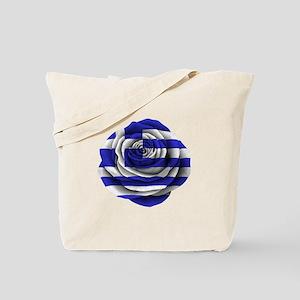 Greek Rose Flag Tote Bag