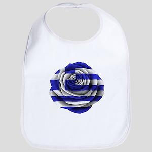 Greek Rose Flag Bib