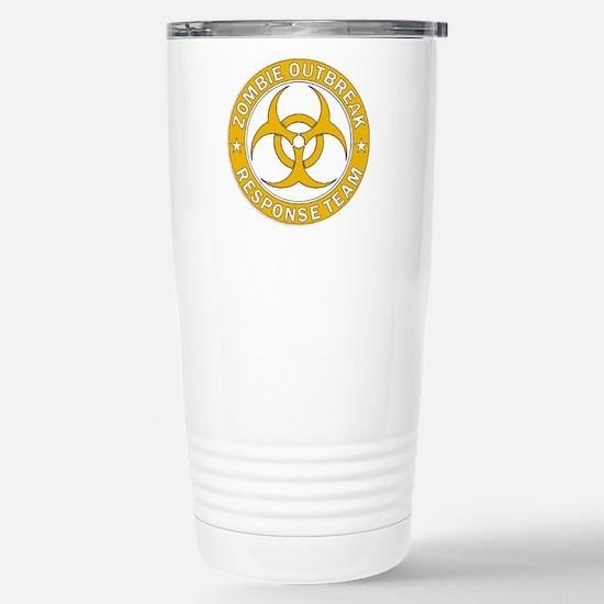 Zombie Outbreak Respons Stainless Steel Travel Mug