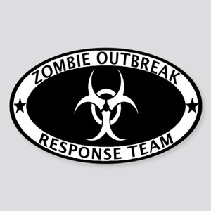Zombie Outbreak Response Team Sticker (Oval)