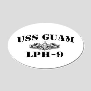 USS GUAM 20x12 Oval Wall Decal