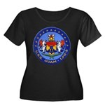 USS GUAM Women's Plus Size Scoop Neck Dark T-Shirt
