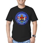 USS GUAM Men's Fitted T-Shirt (dark)