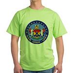 USS GUAM Green T-Shirt