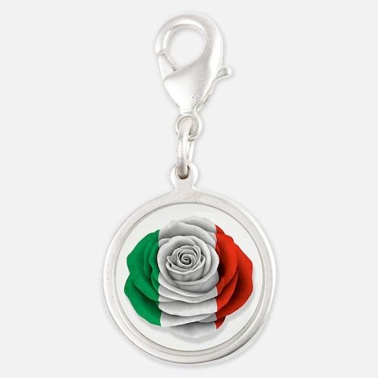 Italian Rose Flag on White Charms