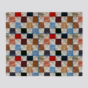 Colorful quilt pattern Throw Blanket