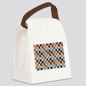 Colorful quilt pattern Canvas Lunch Bag
