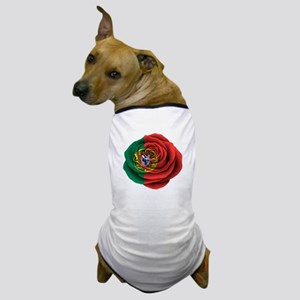 Portuguese Rose Flag Dog T-Shirt