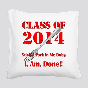 Class of 2014 Square Canvas Pillow