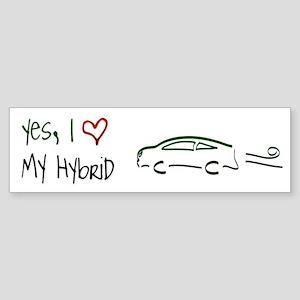 Hybrid Car Bumper Sticker