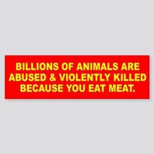 ANIMALS KILLED Bumper Sticker