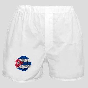 Cuban Rose Flag Boxer Shorts