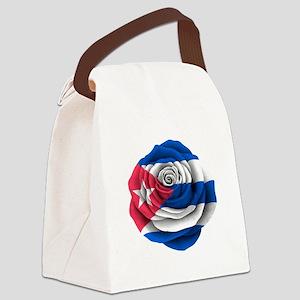 Cuban Rose Flag Canvas Lunch Bag