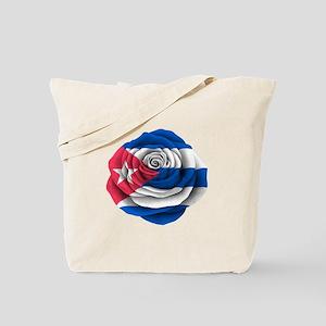 Cuban Rose Flag Tote Bag