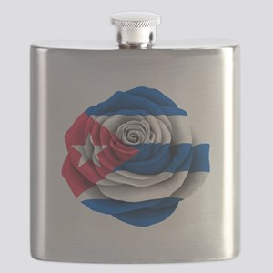 Cuban Rose Flag Flask