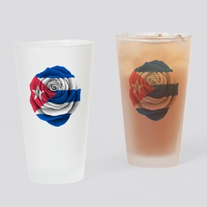 Cuban Rose Flag Drinking Glass
