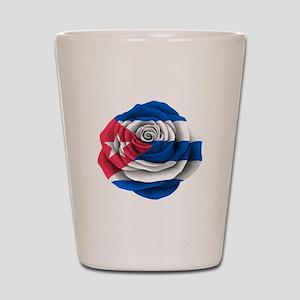 Cuban Rose Flag Shot Glass