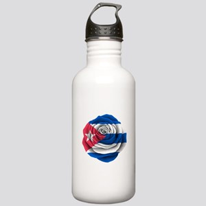 Cuban Rose Flag Water Bottle