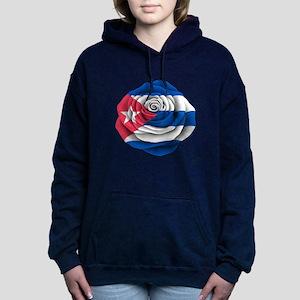 Cuban Rose Flag Women's Hooded Sweatshirt