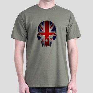 British Flag Skull Dark Dark T-Shirt