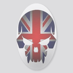 British Flag Skull Sticker (Oval) Sticker (Oval) S