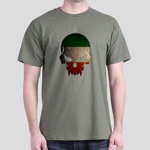 Ireland Flag Skull Dark T-Shirt