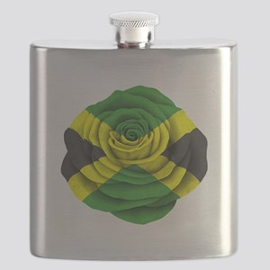 Jamaican Rose Flag on Pink Flask