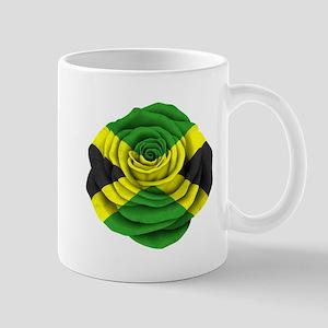 Jamaican Rose Flag on Pink Mugs