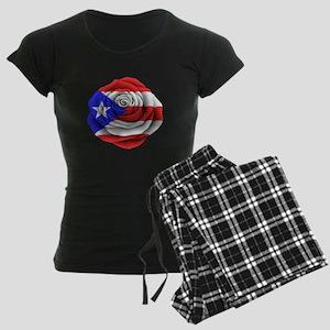 Puerto Rican Rose Flag pajamas