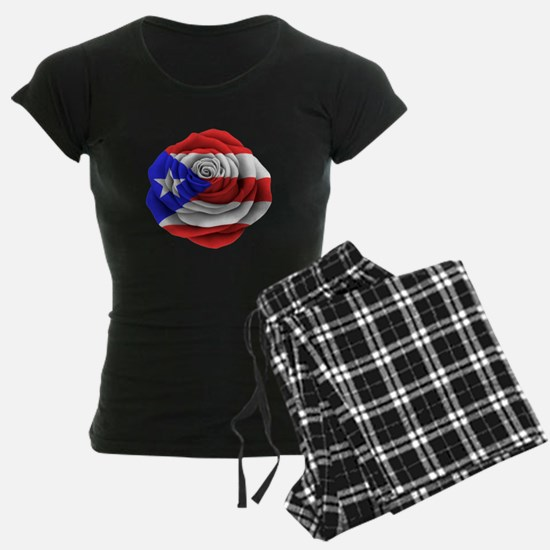 Puerto Rican Rose Flag pajamas