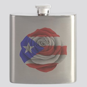 Puerto Rican Rose Flag Flask