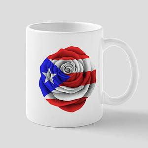Puerto Rican Rose Flag Mugs
