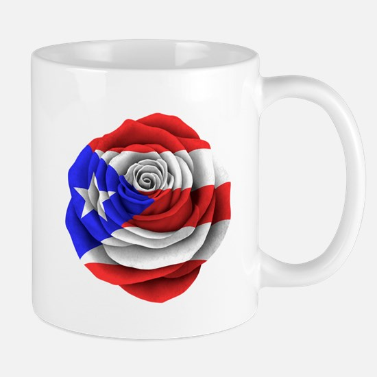 Puerto Rican Rose Flag Mugs