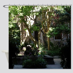 Hidden Courtyard Shower Curtain