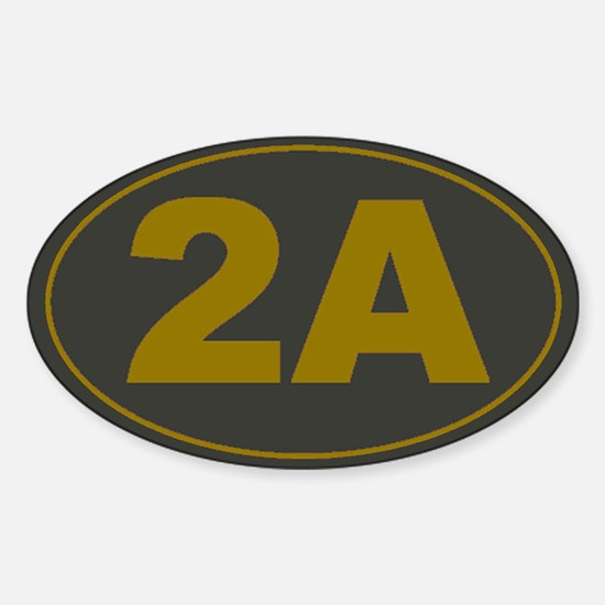 2A Oval_Dark Olive/HE Yellow Decal