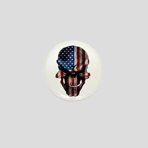Flag & Skull Mini Button