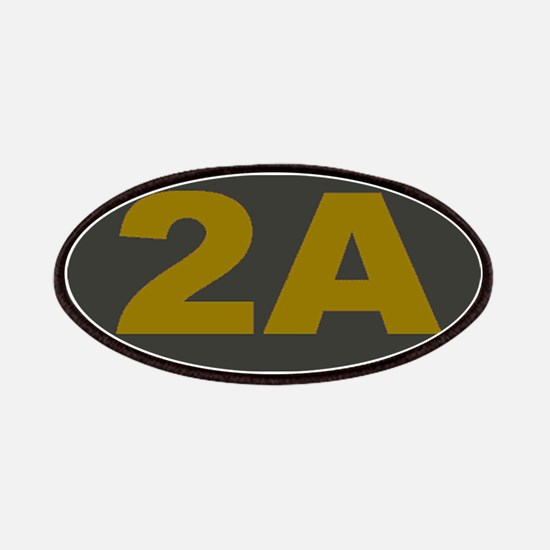 2A Oval_Dark Olive/HE Yellow Patch